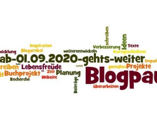 Blogpause bis 31.08.2020